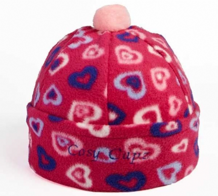 Fleece Riding Hat Cover with Pompom